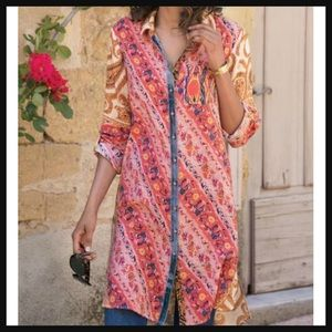 SOFT SURROUNDINGS | button up brynn boho tunic